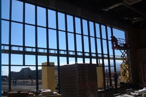 A wall of windows being installed by Victorville Glass Company Inc. in Victorville, CA