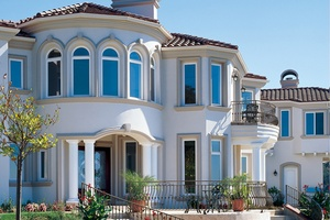 Two-story residential home with many windows in Victorville, CA